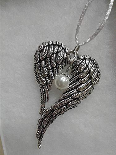 June Faux Pearl Birthstone Angel Wings Memorial (Baby Classic Keepsakes Pearl)