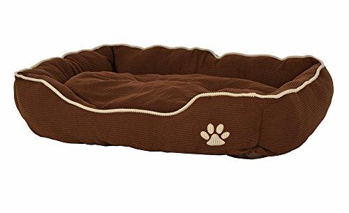 ts-ideen extra weiches Hundebett Tierbett Luxus Kissen Hundekorb Hundesofa Hunde-Kissen waschbar Schlafplatz Kšrbchen 90 x 70 cm