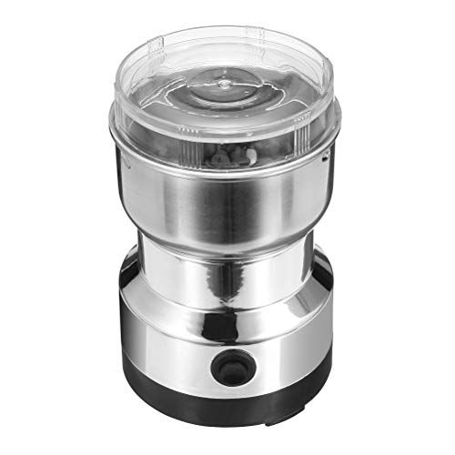 BESTONZON 110V Electric Coffee Spice Beans Grinder Maker with Stainless Steel Blades Grinding Supplies with US Plug for…