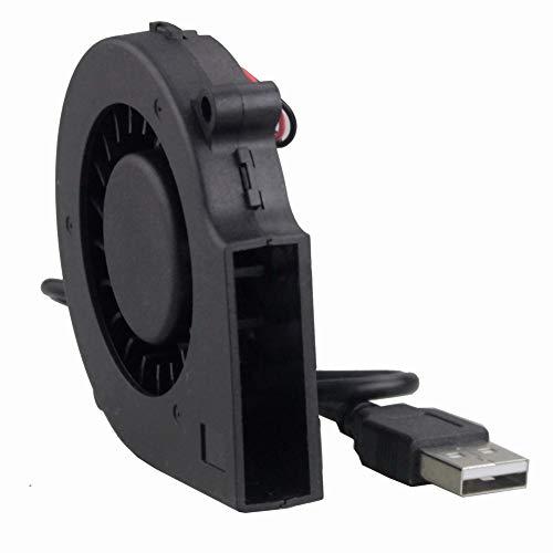 GDSTIME 75mm USB Fan, 75mm x 15mm Blower Fan, 5V DC Brushless Cooling ()