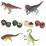 Toxz 20PCs DIY Dinosaur Toys Filled Easter Eggs Deformed Dinosaur Egg Collection for Kids,ABS Plastic Material,Puzzle Toy,Easter Gift