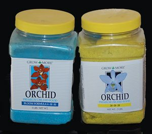 Grow More Orchid Food 6-30-30 and 20-20-20 3 Pound Jars.