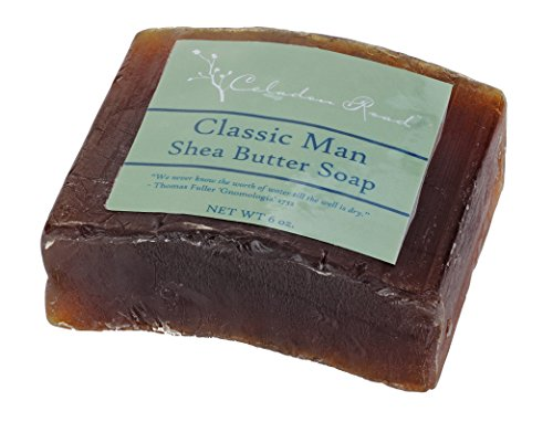 Celadon Road Classic Man Bar Soap - Organic and All Natural Ingredients and Essential Oils - Sulfate and Paraben Free - Best Men's Soap - 6oz - Made in - In Tiffany Usa
