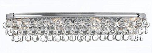Crystorama 134-CH Calypso 8 Light Vanity Light in Polished Chrome Finish by Crystorama