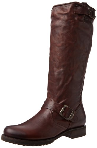 Leather Soft Dark Boot Women's Slouch Vintage Brown Veronica Frye cUfABqxw8c