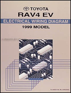 1999 toyota rav4 electric vehicle wiring diagram manual original  1999 rav4 wiring diagram #5