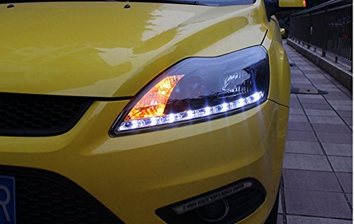GOWE Car Styling for Ford Focus Headlights 2009-2013 Focus 2 LED Headlight DRL Bi Xenon Lens High Low Beam Parking Fog Lamp Color Temperature:8000k;Wattage:55w 3