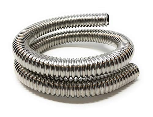 - Stainless Steel Exhaust Flexible Tubing 1/2 inch ID x 2 foot length