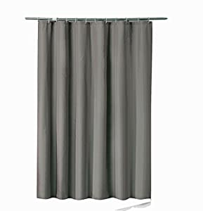 Sfoothome 36 Inch Wide X 72Inch Long Hotel Fabric Shower Curtain Waterproof  And Mildew Free Bath Curtains Heavy Weight, Deep Gray