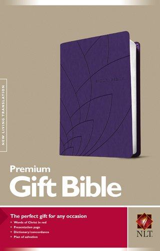 Premium Gift Bible NLT, Petals (Red Letter, LeatherLike, Purple)