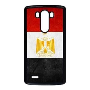 Bandera I8S16 egipto por Alamir S6B1OB funda LG G3 del teléfono celular de casos funda cubre PT8BQP3PD negro