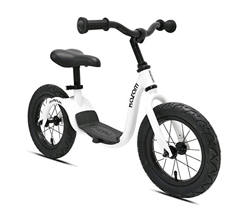 KaZAM Alloy No Pedal Balance Bike, Pearl White, 12'