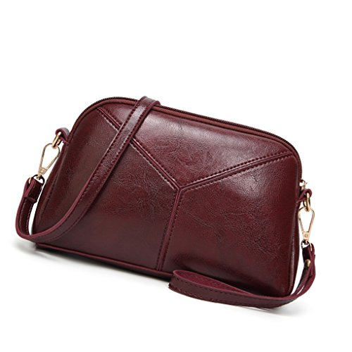 Chilie Women Girls Shoulder Messenger Crossbody Bag Tote Handbag PU Leather Female Shell Patchwork Pouch Purse (Utility Patch Bag)