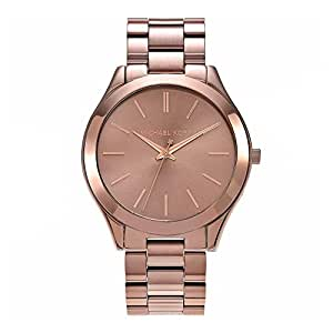 Michael Kors Women's Brown Dial Stainless Steel Band Watch - MK3418