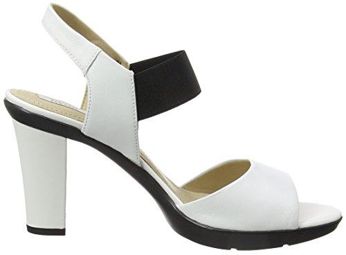 Geox D721VA00085, Sandalias de Tacón Mujer Blanco (Whitec1000)