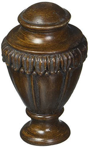 Cal Lighting FA-5016B Traditional Resin Finials Collection in Bronze/Dark Finish, 1.00 inches