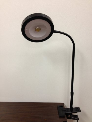 LED Reading 21' Tall,Fluorescent Light,Bright White Eye-care LED Desk Clip Outlet Lamp, Clamp Light (5w,flexible Gooseneck, Simple Switch Control, Clip on Book Light, Black) 21' Tall Lamp
