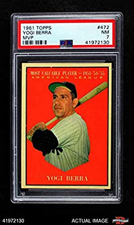 Amazoncom 1961 Topps 472 Most Valuable Player Yogi Berra New