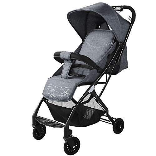 YEXIN Lightweight Stroller Compact Pushchair Lightweight Recline Buggy, Ultra Lightweight Baby Stroller with Handle When…