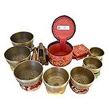 NHZ Chakra Healing Tibetan Singing Bowl Set of 7 for Meditation- Himalayan Singing bowls (Bronze)