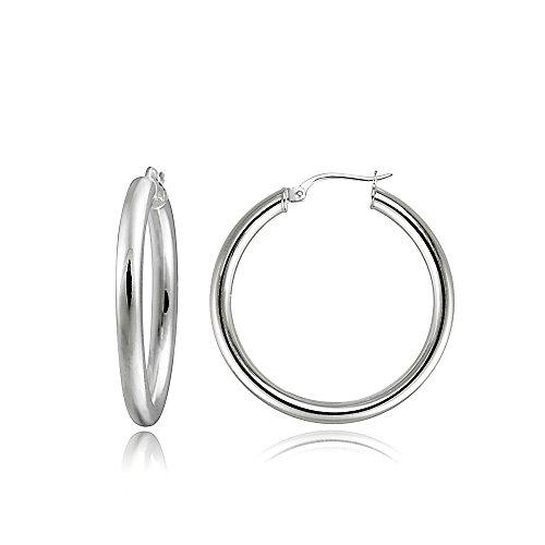Round Polished Hoop - 4