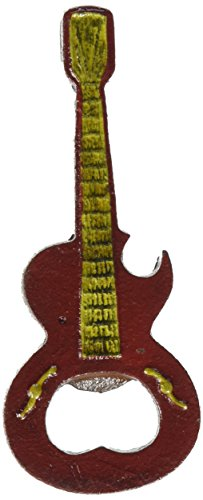 Design Toscano Rock and Roll Guitar Cast Iron Bottle Opener: Set of Two