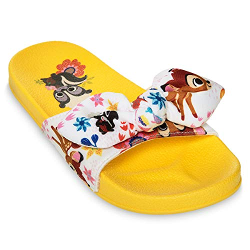 Disney Bambi and Friends Slides for Girls - Disney Furrytale Friends Size 7/8 TODLR Multi