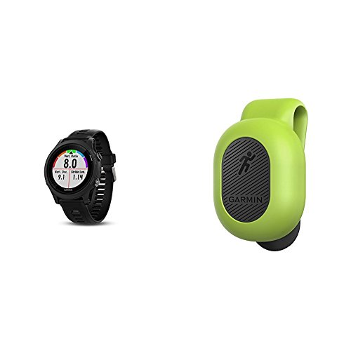 Garmin Forerunner 935 Running GPS Unit (Black) and Running Dynamics Pod Bundle by
