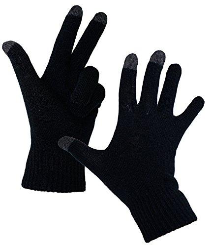 Gants Hommes D'hiver En Uni fi Fiebig Tricot Noir w16 Incl D'homme hutfibel Tactile Gant Écran Everyhead 58050 he1 Pour vdBx1q