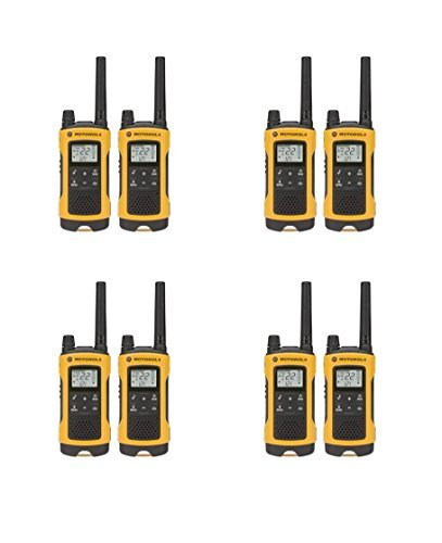 Motorola Talkabout T400 Two-Way Radios Weatherproof PTT IVOX Eco Smart Walkie Talkies 8-PACK