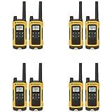 Motorola Talkabout T400 Two-Way Radios Weatherproof PTT IVOX Eco Smart Walkie Talkies 8-PACK