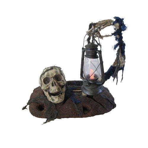 Ground Breaker with Lantern Halloween Prop Haunted House Decoration - Light Haunted House