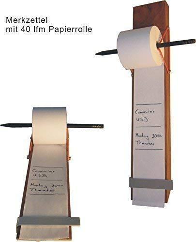 Merkzettel Skizzenrolle Notizenbrett aus Massivholz