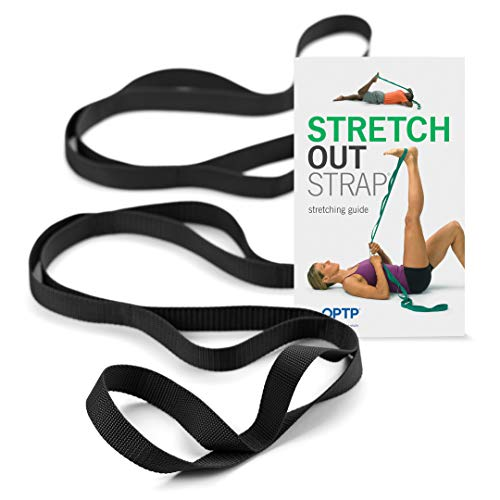 (OPTP The Original Stretch Out Strap XL with Exercise Book Yoga Strap for Physical Therapy | Stretch Hamstrings, Calves, Shoulders and More)