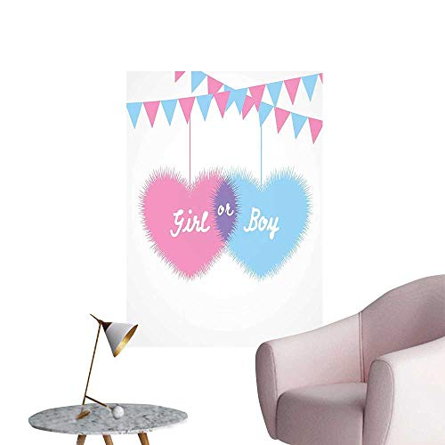 Wall Decorative Girl and Boy He Celebrati Newborn Family Light Pink and Blue Pictures Wall Art Painting,20