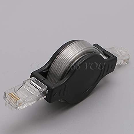 Occus 1.5M 5FT Retractable RJ45 LAN Ethernet Internet Network Cable Cord for Compute Cable Length: 1.5m