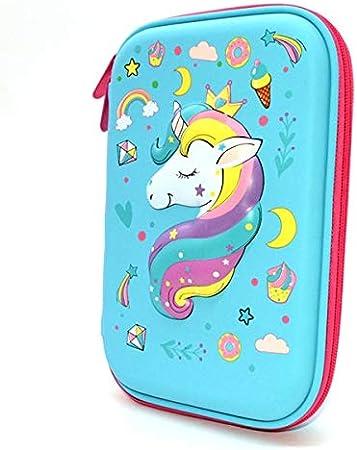 Estuche De Lápices De Unicornio De Dibujos Animados Estuche De Lápices Kawaii Flamingo Estuche De Lápices Creativo Papelería Escolar 8: Amazon.es: Oficina y papelería