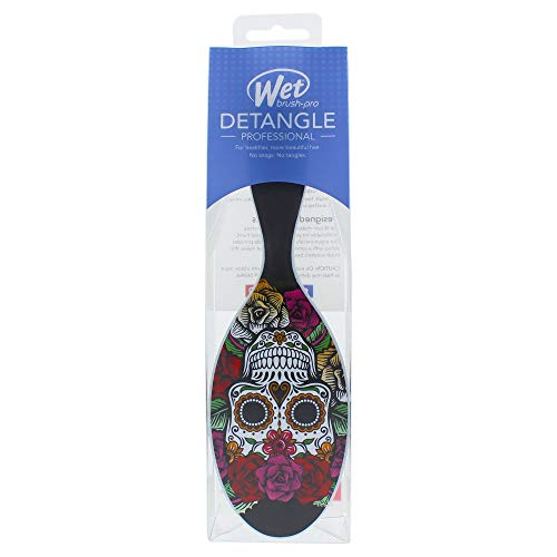 Wet Brush Pro Detangle Hair Brush, Sugar Skulls Rose Red