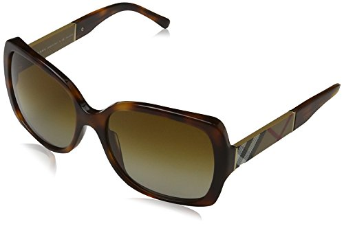 Burberry 4160 3316T5 Tortoise 4160 Square Sunglasses Polarised Lens Category - Glasses Sun Polarised