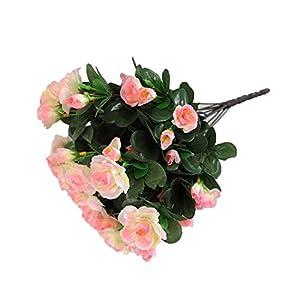Lopkey Silk Artificial Azalea Bush Flower,Pink 19