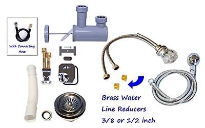 eMark Beauty Shampoo Bowl Replacement parts Kit w/ Diverter Spray Hose and Crystal Faucet Backwash Unit Salon Quality TLC-116K.77DH