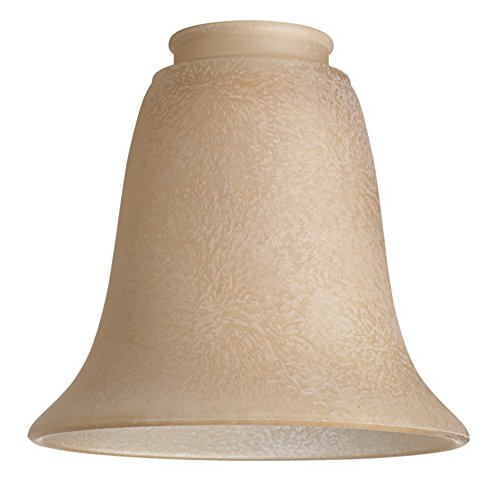 """2 1/4"""" Fitter Set of 4 Bronze Scavo Bell Glass Shades"""