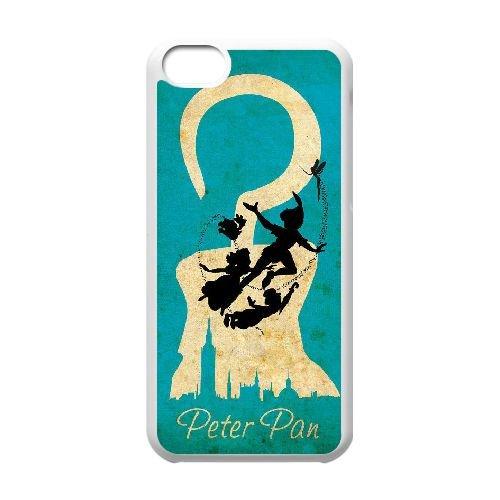 Peter Pan 008 coque iPhone 5C Housse Blanc téléphone portable couverture de cas coque EEEXLKNBC19354