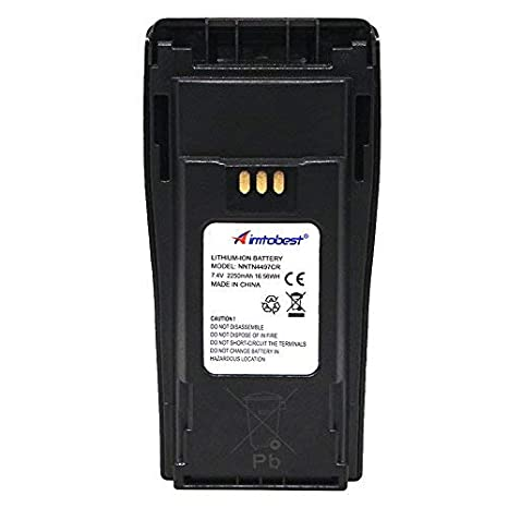NNTN4497CR 7 4V 2250mAh Li-ion Battery Compatible for Motorola Radio  NNTN4497 CP040 CP150 CP200 CP200D CP200XLS EP450 DEP450 PR400 GP3188 GP3688