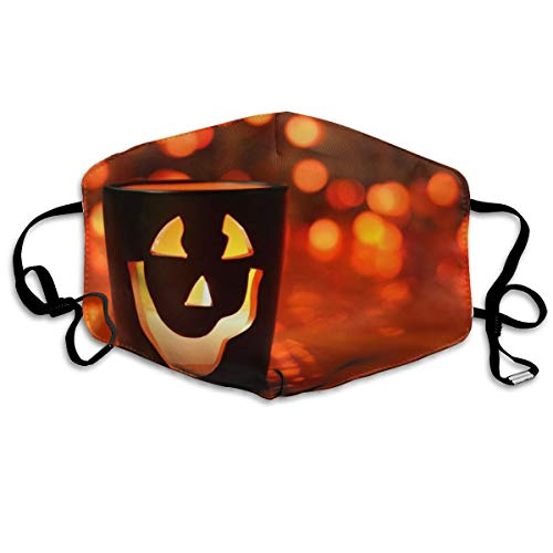 YUIOP Halloween Cup Printed Mask Neutral Mask for Men and Women Polyester Dust-Proof Breathable Mask