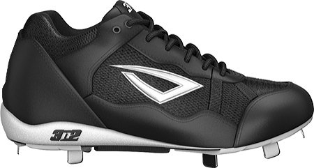 3N2 Pro-Metal Classic Mid Baseball Cleat Mens B000F7SOC4 9.5 D(M) US|Black/black