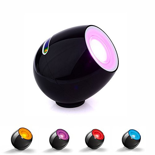 Party Lights, Portable Rechargeable 12 Color RGB Wave Night Light Projector with Touch Control, Black - JVR LH30B