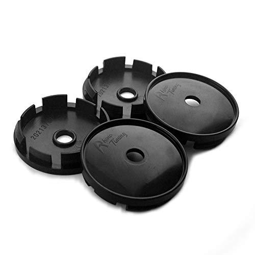 Rial Wheels - 60mm Black ABS Car Wheel Center Hub Caps Base Set of 4