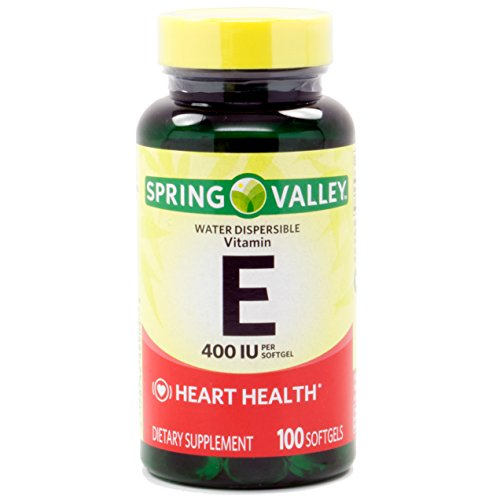 Spring Valley Vitamin E 400 IU Water Soluble 100 Softgels