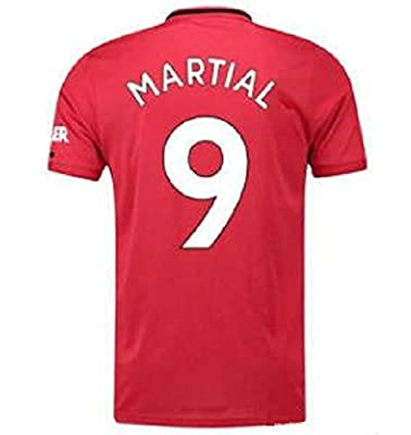Martial # 9 Manchester United 2019-2020 Home Mens Jerseys Red